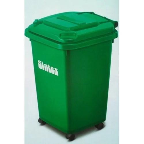 Plastic Green Sintex Dustbin With Wheel Size  Litrs