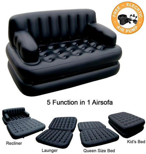 best way to fix a sofa bed how sew cushion covers with piping black plastic 5 in 1 air cum rs 2150 piece mastani