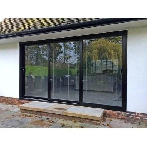 3 panel glass sliding door