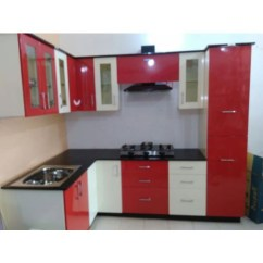 Kitchen Cabnits Outdoor Cabinet Red And White Modular Cabinets At Rs 65000 Unit Bagmari Company Details