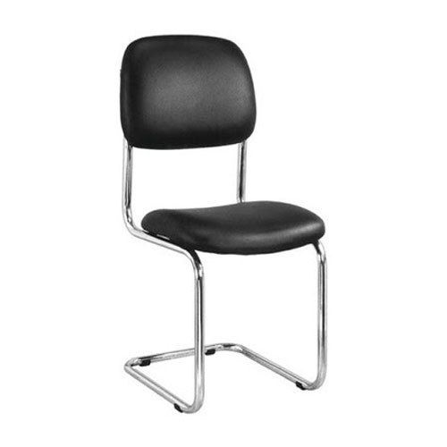 office chair without arms yellow slipper black leather visitor arm length 300 mm rs 975