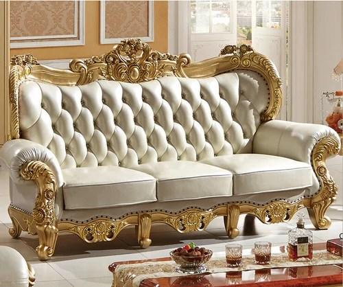 Royal Wood Carved Sofa Set at Rs 65000 set  Carving