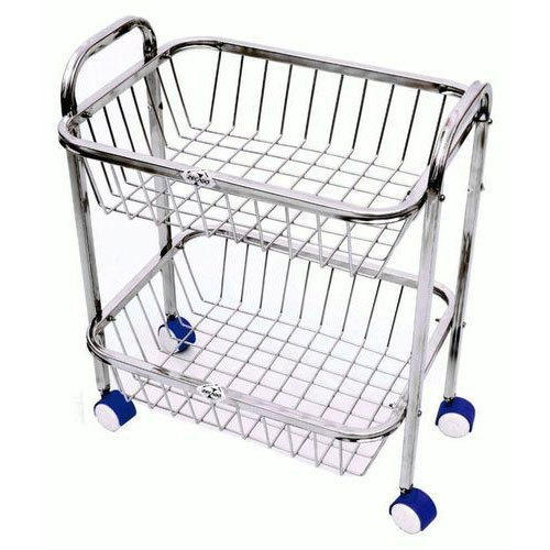stainless steel kitchen cart islands with stools trolley bucket at rs 3600 piece ss