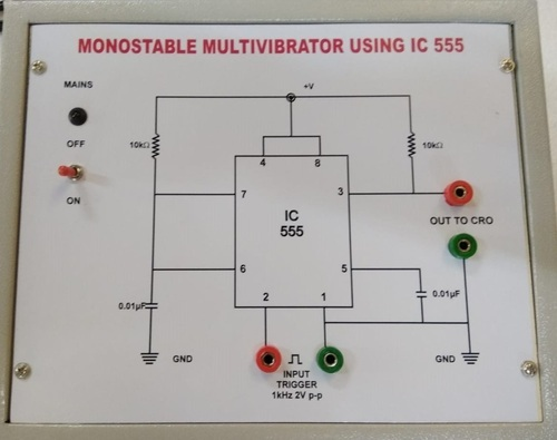 555 Timer In A Monostable Circuit The 555 Monostable Circuit