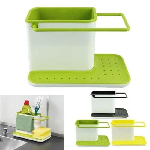 3 in 1 kitchen 30 inch sink organizer for dishwasher liquid brush