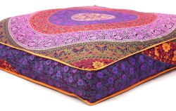 35 mandala indian square cushion floor pillow case seating cover pouf ottoman
