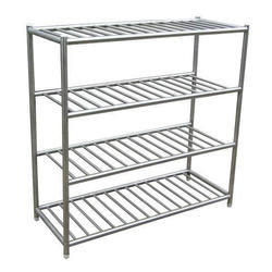 kitchen storage racks ashley furniture table and chairs ss silver rs 185 piece anand steel id
