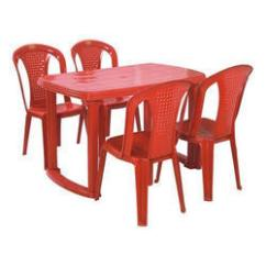 Resin Table And Chairs Set Lift Recliners Red Plastic Chair Rs 2400 Hanumant Industries Id