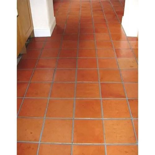 square terracotta clay flooring tiles