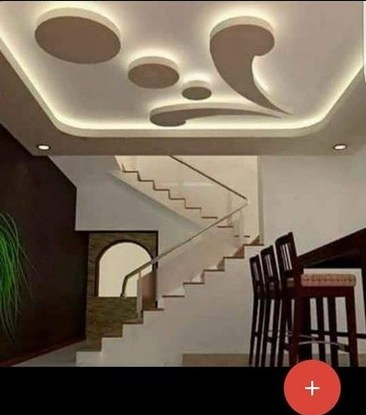 Pop Rose Ceiling Tile Manufacturer From Bengaluru   Staircase False Ceiling Design   High Ceiling   Outside Wall   Interior   Fall Ceiling   Grand