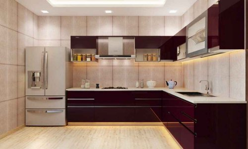 Stainless Steel Straight Kitchen Designing Services Id 10671595448