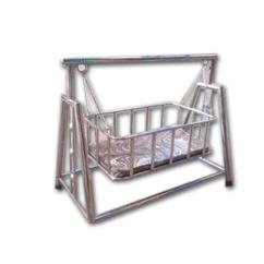 Steel Chair Jhula Grey Striped Covers Silver Stainless Baby Rs 4000 Piece S R