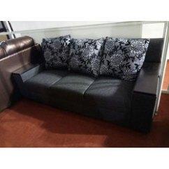 Cushion Sofa Set Covers Edmonton 3 Seater Black Rs 28000 Brown Elephant
