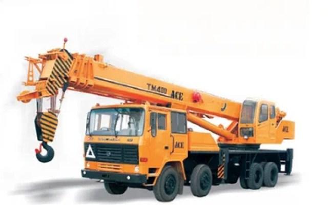 Orange Hydra Crane Truck Mounted Cranes Tm 400 Id