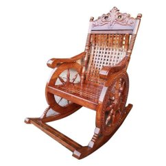 Antique Wooden Rocking Chairs Black Metal Dining Chair Prachin Hindola Kursi प र च न
