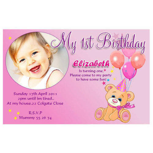 Rectangle Handmade Paper Birthday Invitation Card