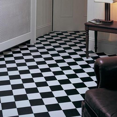 laminate tile flooring black and white