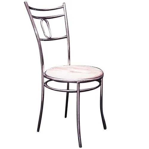 SG Fabs Brown Dining Stainless Steel Wooden Chair, For