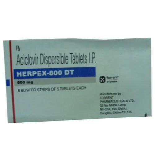 Herpex DT Acyclovir 800 mg Tablet Price from Rs.223.40 ...