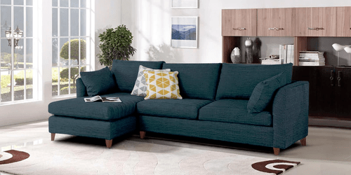 sofa blue color fabric sofas ikea saola l shape in dark by zapwood couch