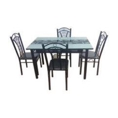 Metal Kitchen Table Sets Albuquerque Cabinets Polished 4 Seater Dining Set Rs 9900 New Golden