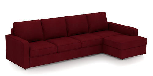color sofa crate and barrel replacement cushions primus maroon l shape by zapwood couch एल