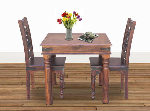 two chair dining table beanie bag maple finish furniselan set of chairs rs 19875