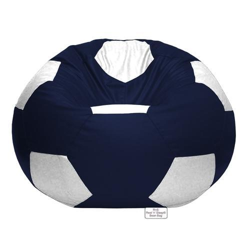 football bean bag chair low cost covers birmingham white navy blue size xxxl rs 550 piece