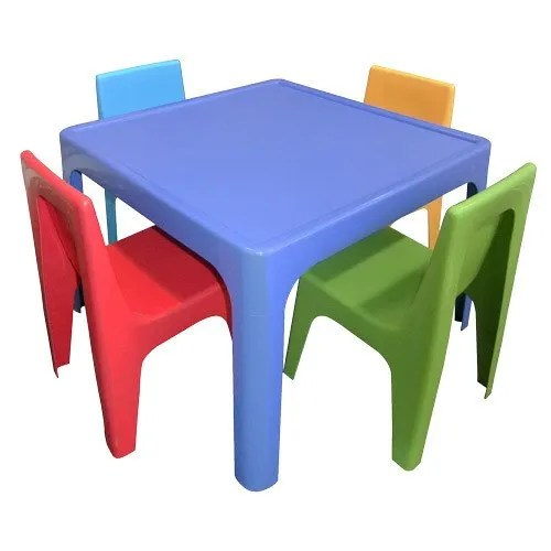 plastic kids table and chairs glider chair covers uk set for playgroup id 20466846212