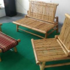 Bamboo Couch And Chairs Design Chair Lift Sofa Set Furniture At Rs 15500