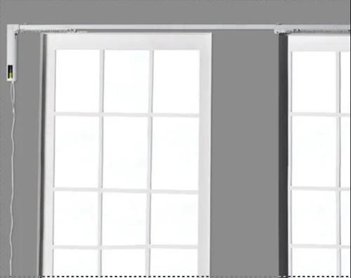 li ion ivory matt 2 4 mtr automatic curtain rod