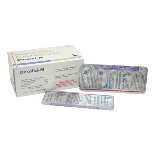 Montelukast Sodium and Desloratadine Tablets Allergy ...