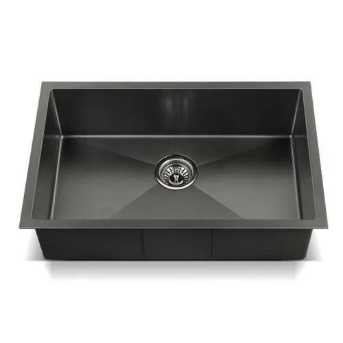 handmade black matt stainless steel sink