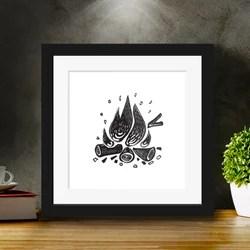 bonfire decor mini canvas