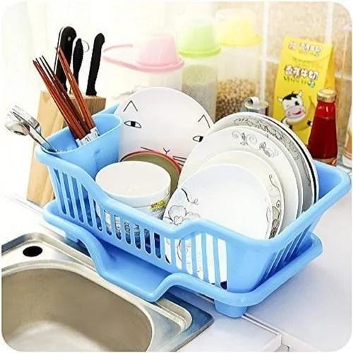 clubindia plastic kitchen sink dish drainer drying rack washing holder basket