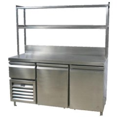 Hotels With Kitchen Mixer Machine Equipment Stainless Steel Food Counter For