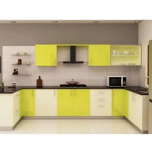 U Shape Wooden Ushaped Modular Kitchen, Rs 4000 Square