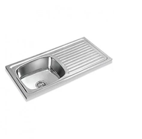 single sink kitchen havertys island apollo with drain board size 45 x 20 8