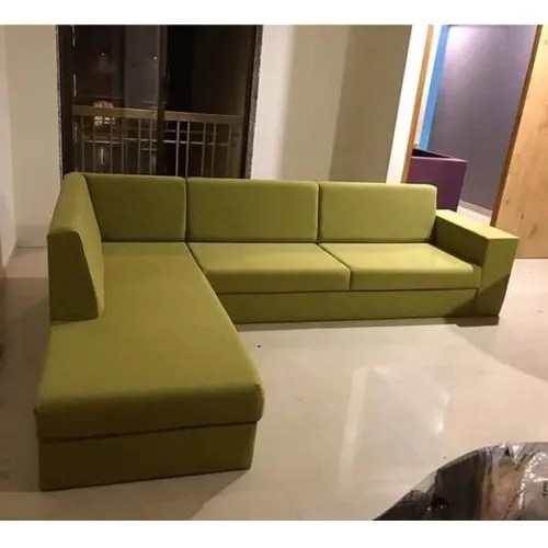 Modern Olive Green Wooden L Shape Sofa Set For Home Living Room Rs 5000 Seat Id 22938107912