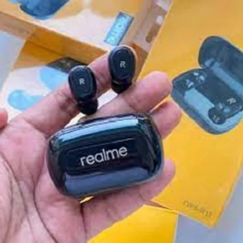 Mobile Black Realme Tws R-11 Earbuds, For Audio, Rechargeable Battery