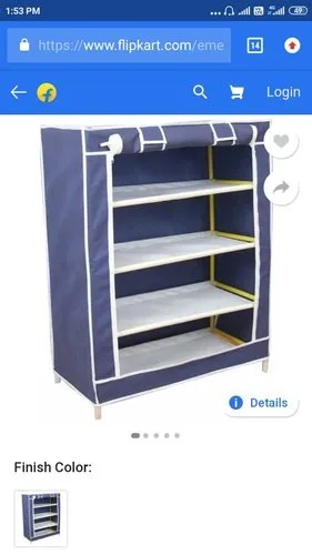 folding shoe rack with cloth cover