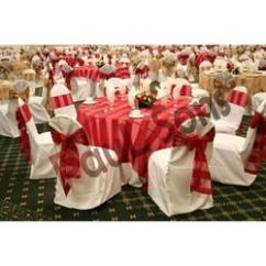 Chair Covers Price Twin High Cover In Ludhiana क र स ग ल फ White And Red Plain Dyed