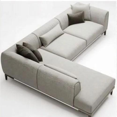 grey designer l shaped sofa set
