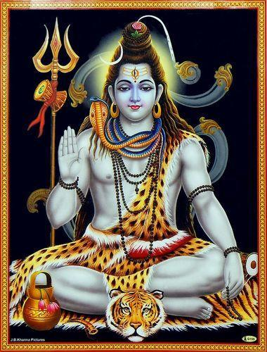 lord shiva laminated photo