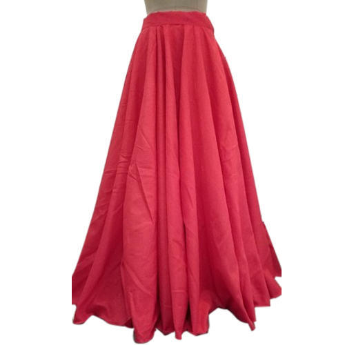 Pink Floor Length Flared Skirt Rs 1300 piece Whats In