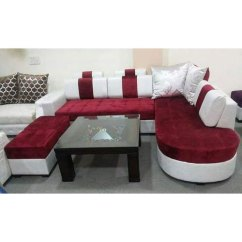 White Sofa Set Living Room The Church East Wenatchee Wa Red And At Rs 85000 Butler Colony Lucknow Id