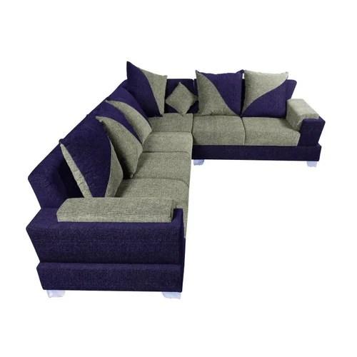 cushion sofa set stylus dealers vancouver l shape blue and grey rs 7500 seat furniture hub