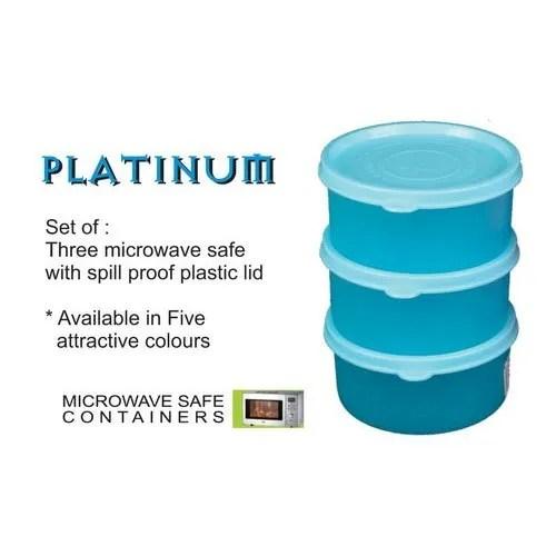 microwave safe platinum plastic container set