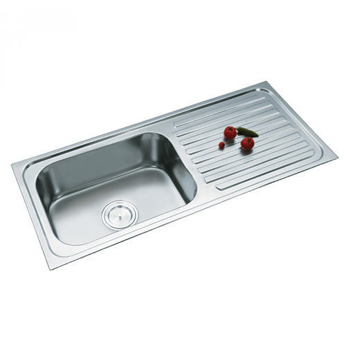 single bowl sink with drain board