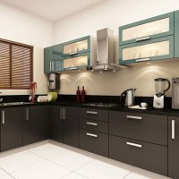 L Shape Modular Kitchen, Modular Kitchen